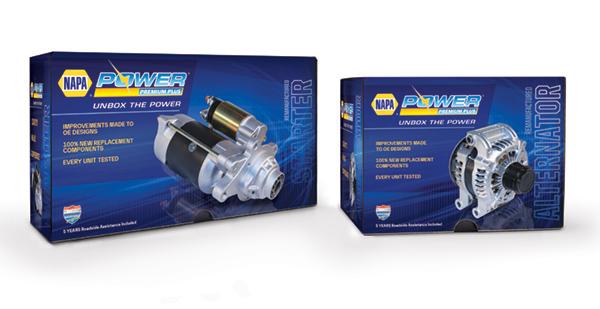 NAPA® Power Premium Plus® Trilingual Packaging for Alternators and Starters