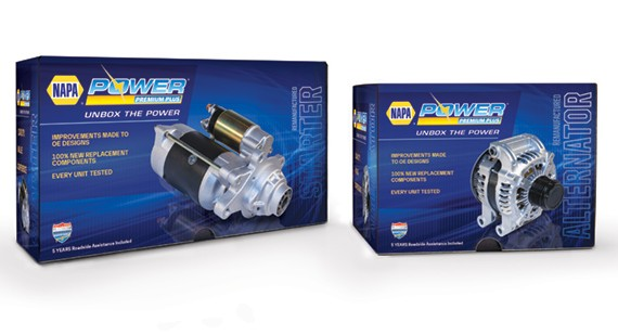 NAPA® Power Premium Plus Trilingual Packaging for Alternators and Starters